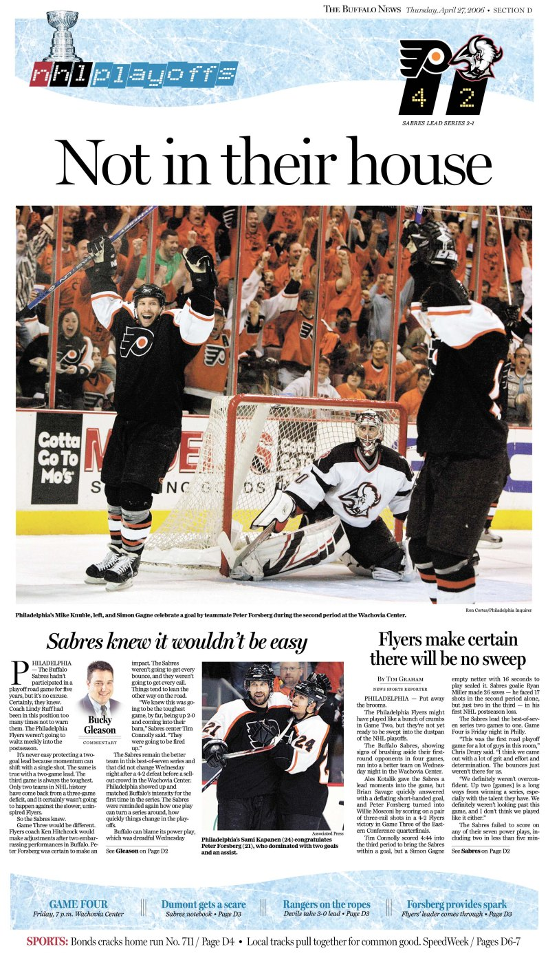 The Buffalo News the day after game 3