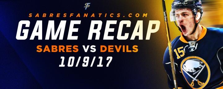 Sabres VS Devils Game Recap10/9/17