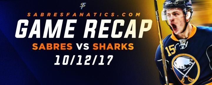 Sabres VS Sharks Game Recap10/12/17