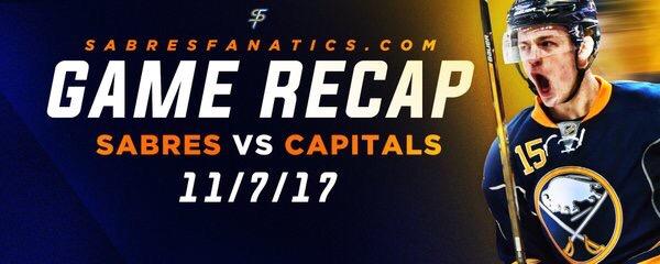 Sabres VS Capitals Game Recap11/7/17